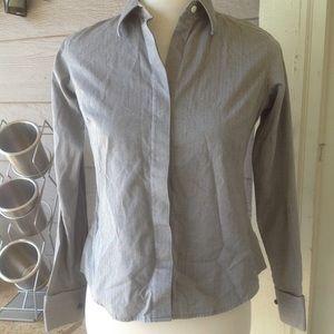Land's End women button up dress shirt